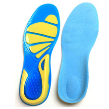 Silicone Insole Basketball Running Mountaineering Shock Absorption Men And Women Shoes Insert Cushion Sports Shoes Pad