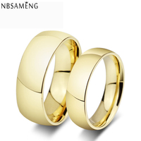 18K Gold Plated Wedding Band Tungsten Carbide Ring Men And Women Fashion Jewellery YK5103