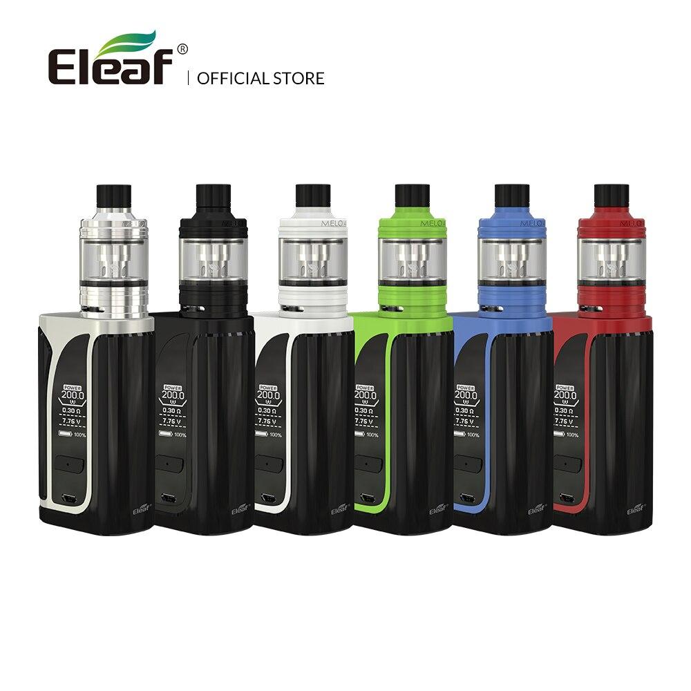 Originale Eleaf iKuu i200 con MELO 4 kit con 4600 mah costruito in batteria 4.5 ml D25 atomizzatore EC2 bobina sigaretta elettronica