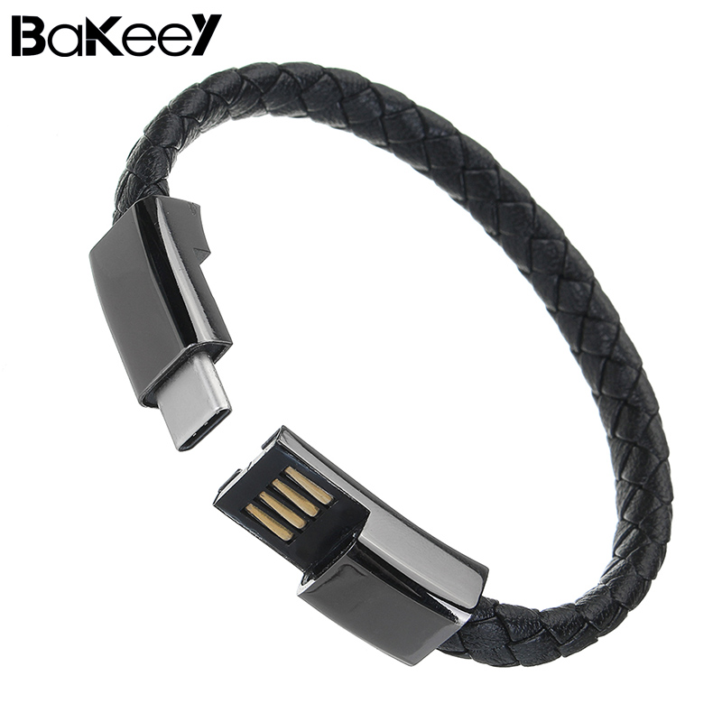 Bakeey Portable Sports Bracelet Type C USB Charging Data Cable For Oneplus 6 Xiaomi 6 Mi A1 Mix 2S for Sansung S9+ Universal bracelet
