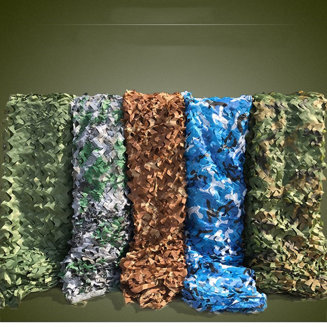 2mx3m Sun Shelter Camouflage Netting Desert Camo Sunscreen Net for Camping Military Photography Hunting Hide Party Decorations