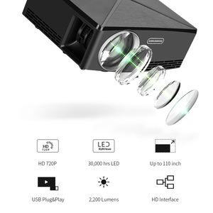 Image 3 - ALSTON HD MINI Projector C80/C80UP, 1280x720 Resolution, Android WIFI Proyector, LED Portable HD Beamer for Home Cinema