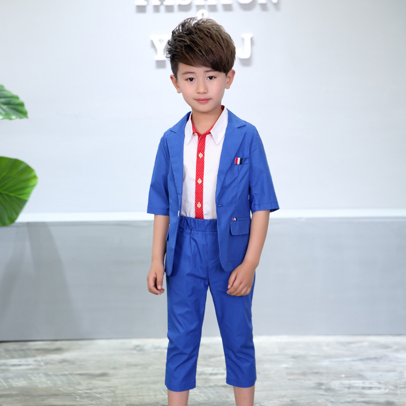ActhInK New Boys 2PCS Solid Blazer Suit ბრენდი - ბავშვთა ტანსაცმელი - ფოტო 2