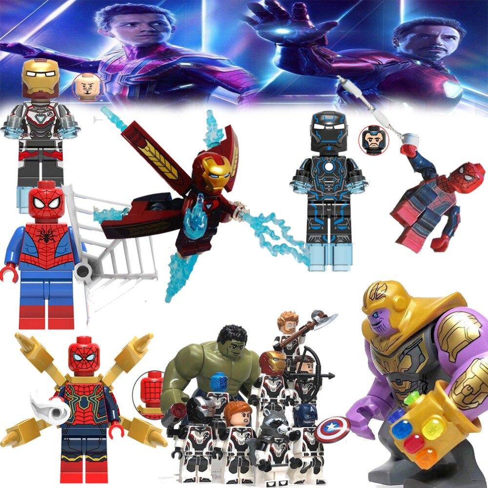 Marvel Avengers Super Heroes Spiderman Thanos Carnage Building Blocks Toy