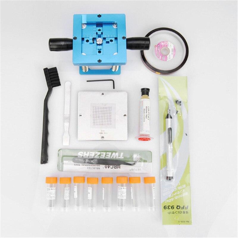 26 in 1 BGA Rework Fixtures Kits 90x90 Universal Reballing BGA Stencil Kit Accessories For Laptop