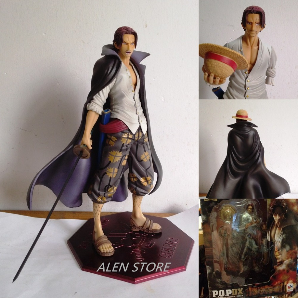 ALEN One Piece Shanks Figure Toys Painted Figure On the top of war Red Hair Shanks Figure Dolls Anime Model PVC Action Figure one piece action anime figuarts zero ex one piece shanks figure pvc shanks action figure collectible model toy for boys 17cm
