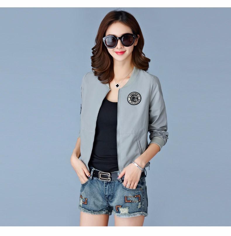 7 Colors Spring Summer Jacket Women Leisure Loose Plus Size Coat O Neck Long Sleeve Autumn Sport Jackets Casaco Feminino 2016 A8 B