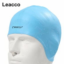 Man women high spandex large size swimming wear hat Adults Waterproof swimming caps silicone swimming hat Protect Ears