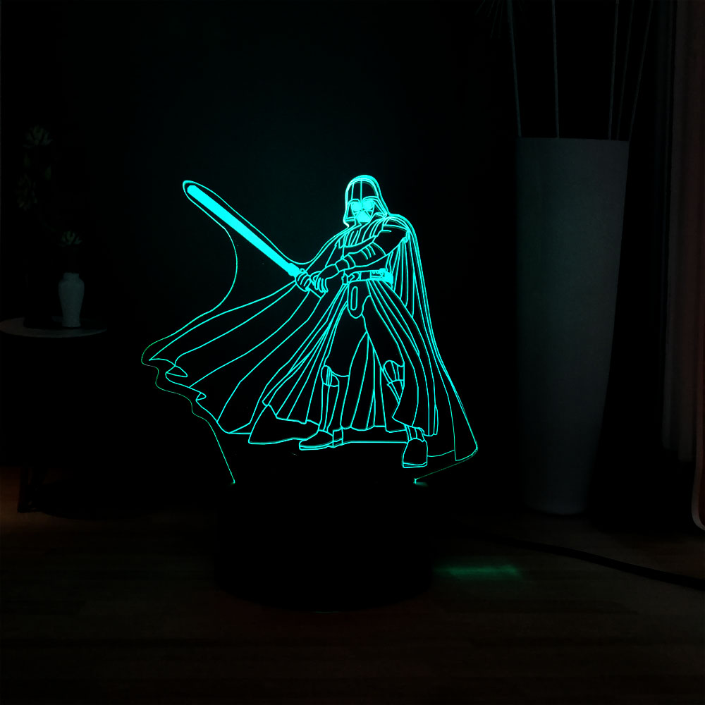 Cool Star Wars Figure Darth Vade LED 3D Novel Baby Sleep Atmosphere Table Night Lamp Children Friend Boy Holiday Activity Prize image