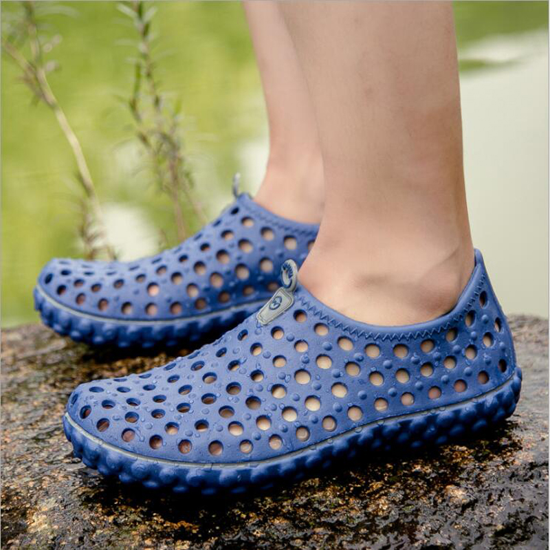 2018 new arrivals men sandal openwork summer shoes casual flat comfortable beach sandals for men plus size 45