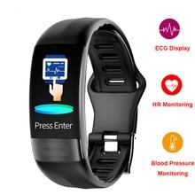 P11 ecg + hrv banda inteligente monitor de pressão arterial fitness pulseira activin rastreador esportes relógio sono