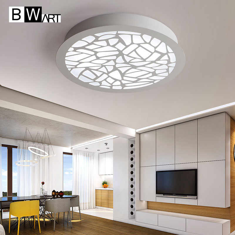 Black/White Modern LED Ceiling Light For Living Room Bedroom Indoor Lamp ZY-064 noosion modern led ceiling lamp for bedroom room black and white color with crystal plafon techo iluminacion lustre de plafond