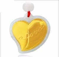 New 100% Natural /Jadeite 24k 999 Yellow Gold Heart Pendant
