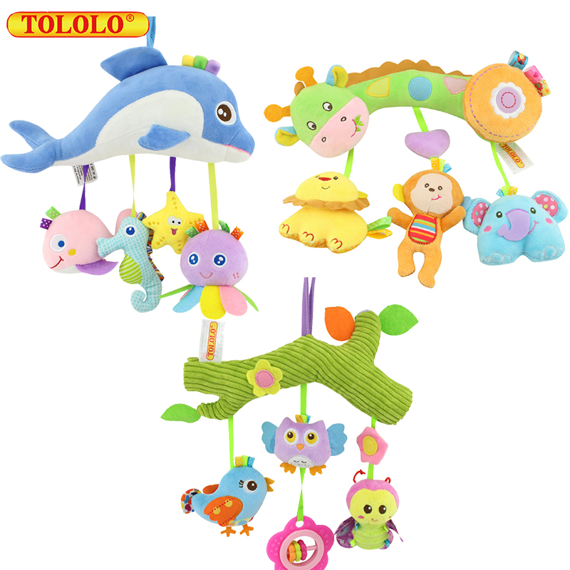 TOLOLO baby crossbar car hanging bed hanging bell mirror baby pamper plush toys WJ537