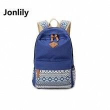 Jonlily Холст женская Тенденция Досуг Все-Матч Стиль Колледжа Рюкзак Мода Путешествия Bags-GL053