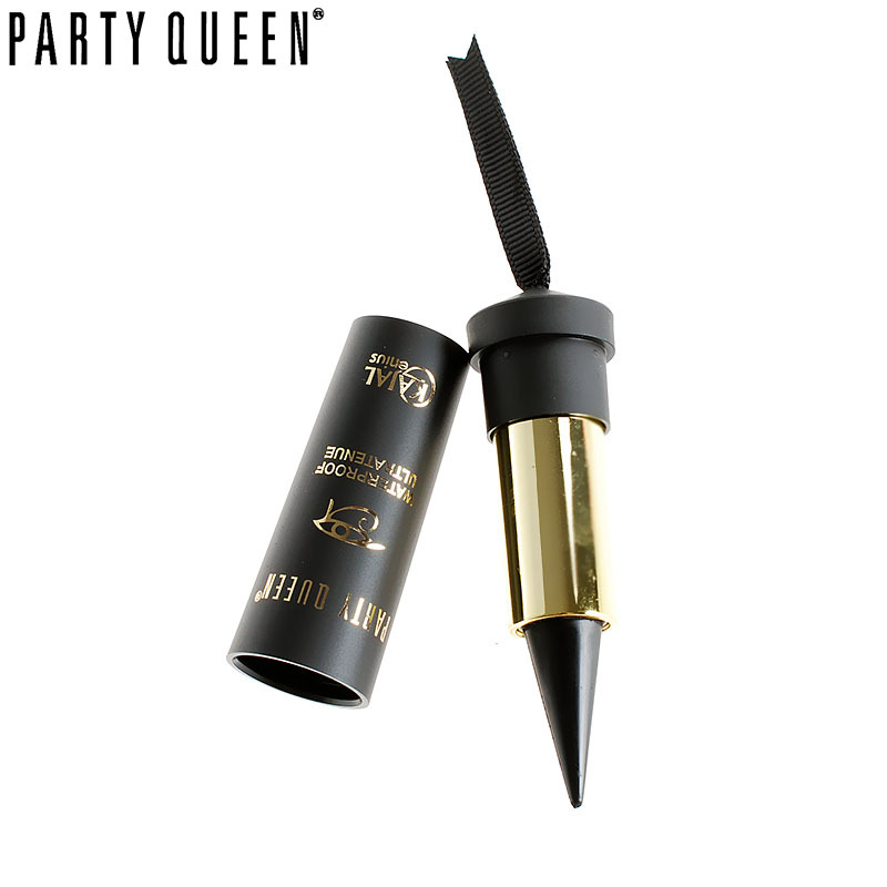 Party Queen Eye Forbedring Sort Kajal Eyeliner Stick Solid Tykk Eyeliner Gel Makeup Glat Vandtæt Naturligt Røgfuldt Eyes Liner