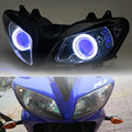 1 комплект прожекторных фар в сборе HID Blue Angel Eyes для Yamaha YZF R1 2002-2003 на заказ