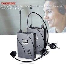 Takstar uhf938 versão atualizada sistema de transmissão de guia turístico acústico sem fio 50m faixa eficaz 432.5-433.5/433-434 mhz