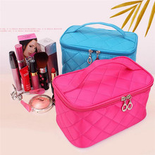 Women Travel Cosmetic Bags Diamond Lattice Zipper Men Makeup Bags Organizer Beauty Toiletry Bag Bath Wash Make Up Kits Case new cute unicorn women cosmetic bags travel organizer necessary beauty case pvc toiletry bags makeup bag bath wash make up bag