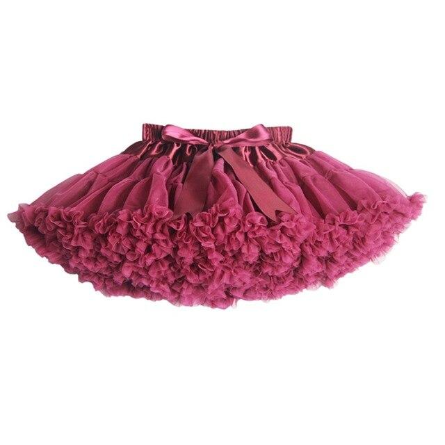 Новые 2015 Hot 20 цвета старинные пыльно-розовый / серебристо-серый / вино / темносиний пушистые юбка девушки юбки дети юбке