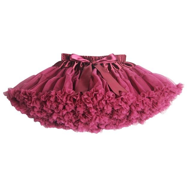 Nuevos 2015 calientes 20 colores Vintage dusty pink / Silver gray / vino / azul marino bebé Pettiskirt mullido del tutú de la falda de la enagua niños