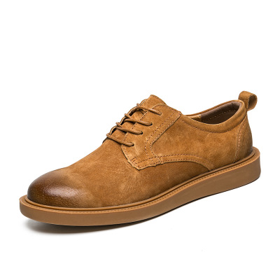 Autumn new men's shoes wild England casual leather boots trend men's low tooling shoes