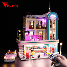 цены Led Light For Lego Diner 10260 Building Blocks Creator City Street Streetview Downtown Diner 15037 Toys Gifts( Only lights)