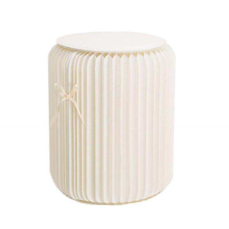 11 pouces tabouret moderne chaise pliante Taburete papier Design avec 1 coussinet en cuir multifonctionnel pour salon chambre salle d'essayage