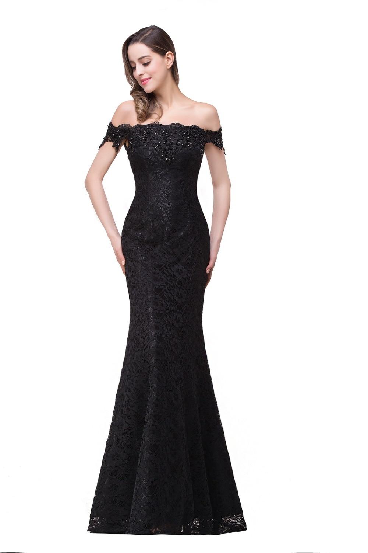 In Stock Elegant Beads Lace Mermaid Long Evening Dress 2017 Cheap ...