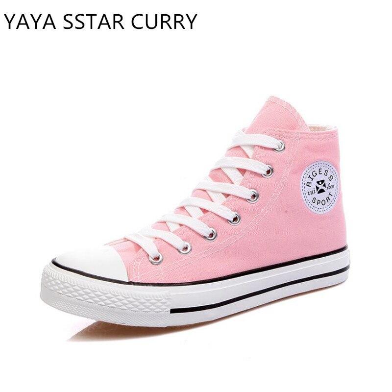 Prix pour YAYA SSTAR CURRY Marque 2017 classique de couleur de sucrerie toile chaussures plat chaussures conseil chaussures de femmes étudiant muffins chaussures