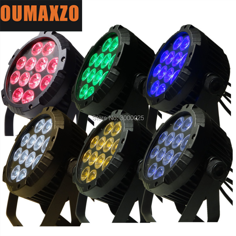 6pcs/lot IP65 led par RGBWA UV 12pcs 6in1 outdoor waterproof par flat led 12pcs 6in1 slim par nightclub lighting / IRC ADJ slim