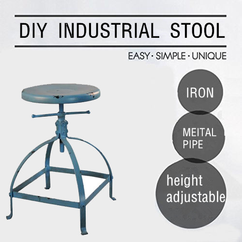Vintage Chair Industrial Style Metal Bar Stool Adjustable Height Black Swivel Kitchen Bar Stool Cofe Chair For Home Kitchen