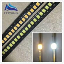 200 pièces 0.2W SMD 2835 lampe à LED perle 20-25lm blanc/blanc chaud SMD LED perles puce LED DC3.0-3.6V pour Diodes d'éclairage 6000K/3000K