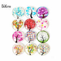 Cabochon BoYuTe 10 tailles clair rond verre Cabochon arbre motif mixte couleur Fit camée Base réglage