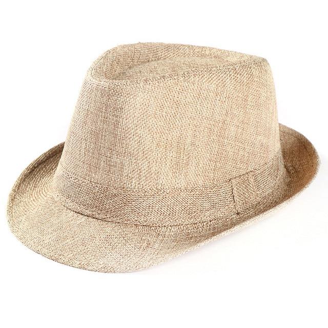 82f147b533e43 2018 Hot Unisex Women Men Fashion Summer Casual Trendy Beach Sun Straw  Panama Jazz Hat Cowboy Fedora hat Gangster Cap