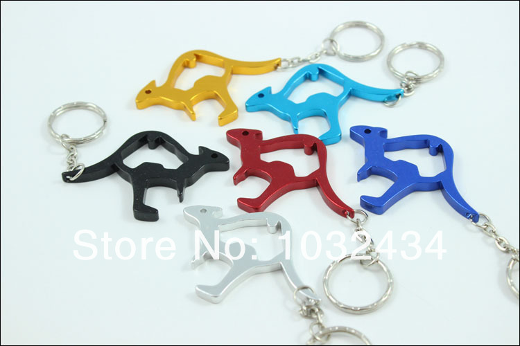 Factory Directly Sale 1200 Pcslot Kangaroo Bottle Opener Aluminum Alloy Can Opener with Keychain- Free Shipping