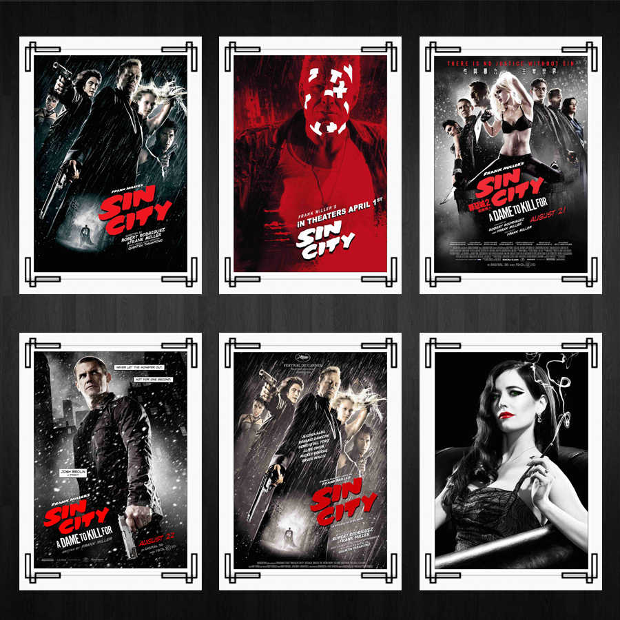 Sin City Comic Movie Posters Home Room Decor High Quality Printing Wallpaper Modern Decoration