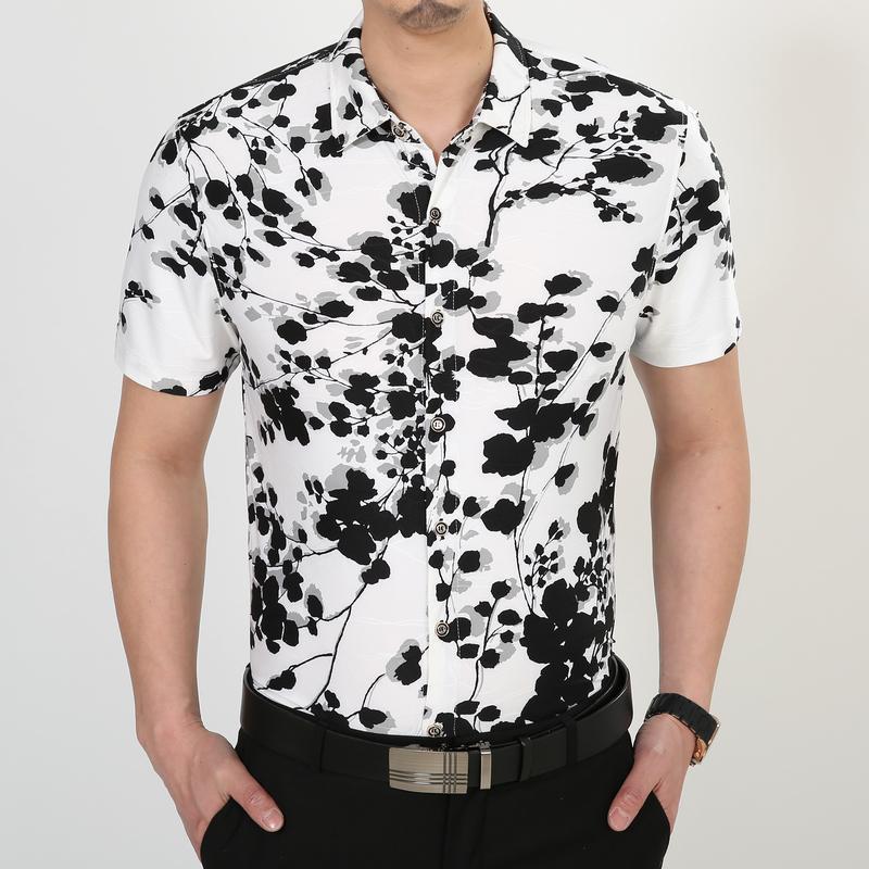 Para hombre camisa de la flor camisa 2015 camisa de la