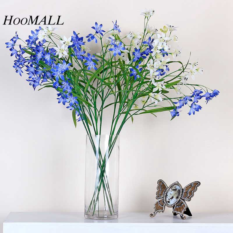 Hoomall 1PC Mini Flower Bouquet Fake Artificial Flowers Silk Flowers For Home Decoration Accessories Wedding Decoration DIY