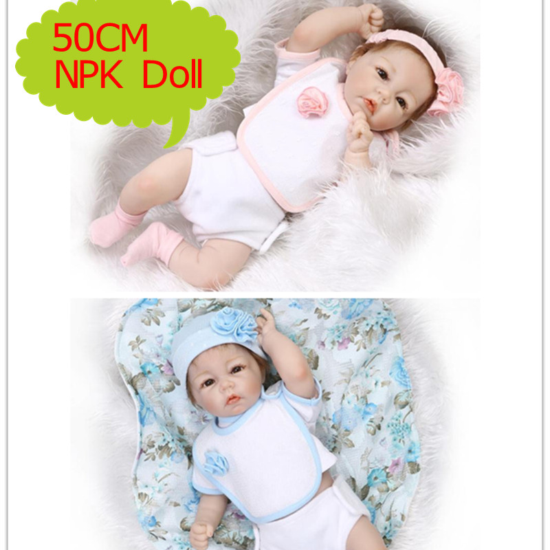 NPK 50cm About 20 inch Silicone Reborn Dolls With Summer Season Doll Clothes Hot Baby Doll