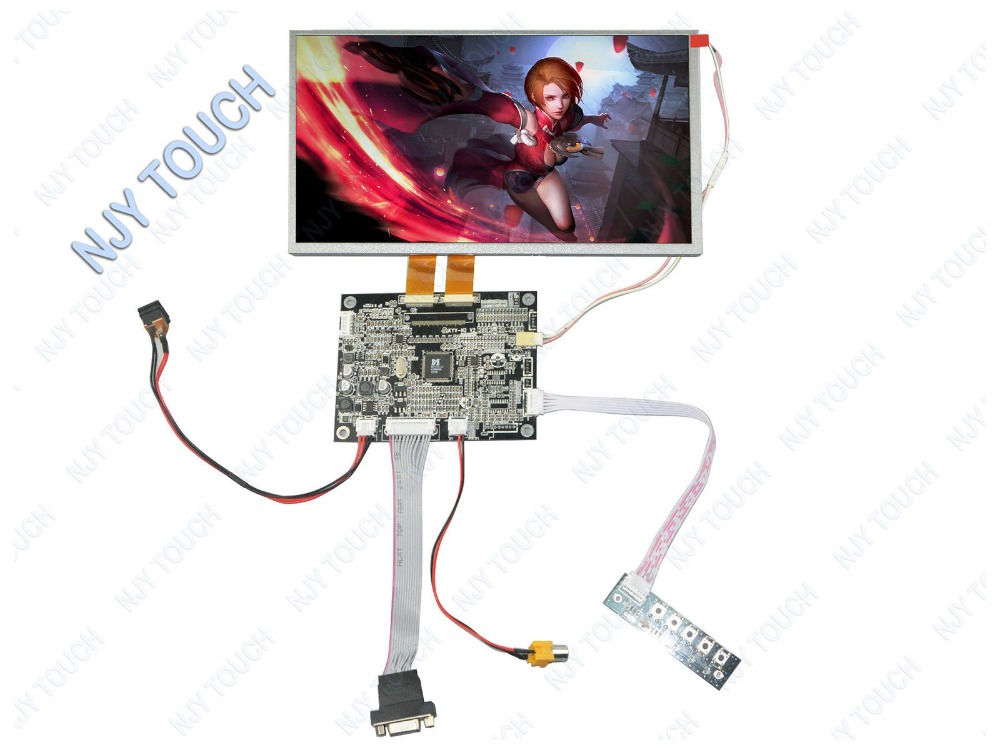 10.2 TFT AT102TN03 V9 Dual 30Pin Screen Plus KYV-N2 VGA AV LCD Controller Board kit free shipping10.2 TFT AT102TN03 V9 Dual 30Pin Screen Plus KYV-N2 VGA AV LCD Controller Board kit free shipping