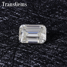 TransGems 1 Carat 5mm*7mm H Color Emerald cut Moissanite Diamond Loose Stone as Real