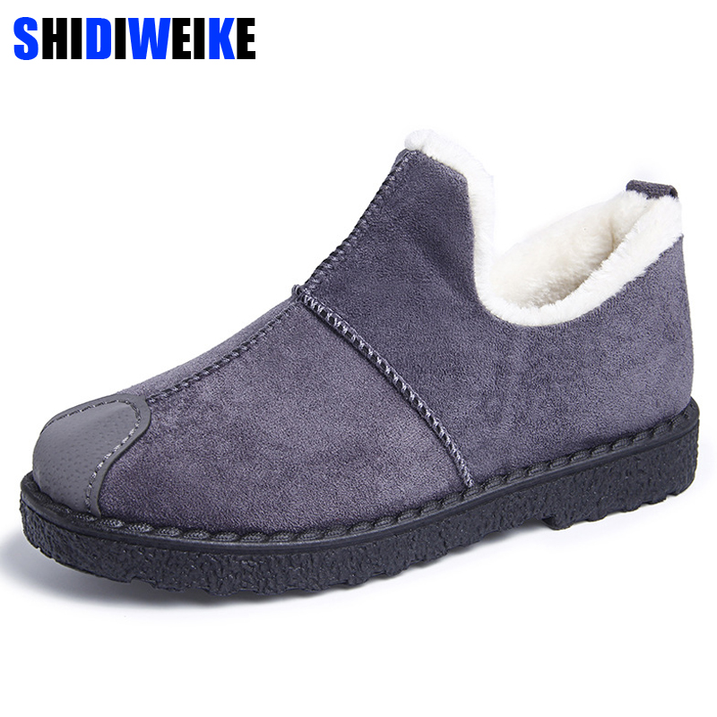 Winter Boots Woman Slip On Female Plush Velvet Fur Warm Winter Shoes Ankle Snowboots Lady Warm Short Snow Boots Shoes n441