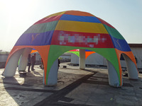 diameter 8m inflatable camping beach tent with blower