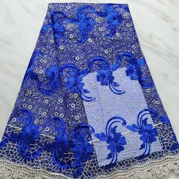 African Lace Fabric 2019 Embroidered Nigerian Laces Fabric Bridal High Quality French Tulle Lace Fabric For Wedding Party Royal