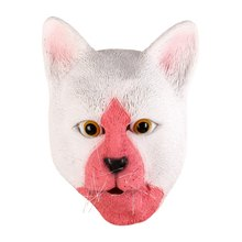 Latex Cat Mask Animal Head Mask Adults Funny Face Mouth-muffle Masks For Halloween Christmas Party(China)