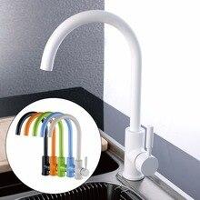 Классическая Кухня Смесители Бассейна с Черным, белый, зеленый, Orange Color, одной Ручкой Латунь Кухонный Кран Раковины смесители