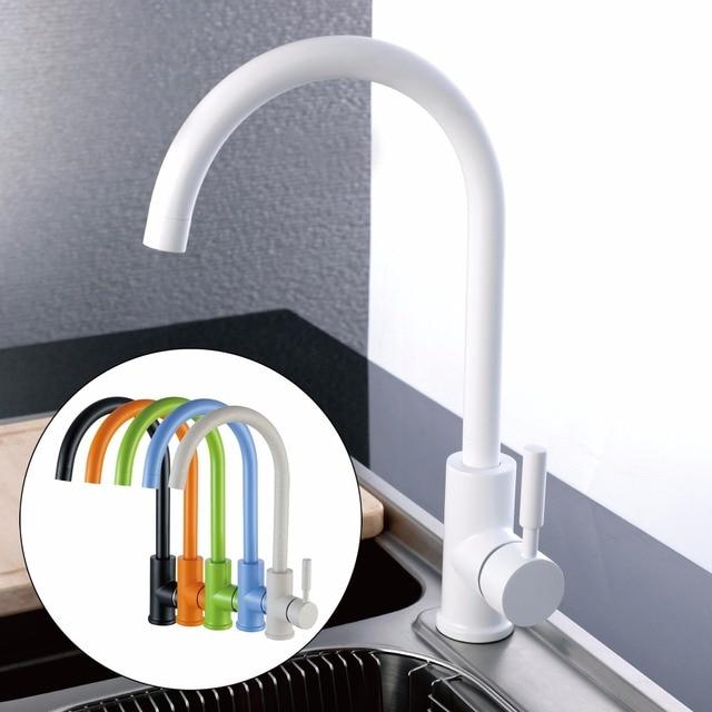 Küche Waschbecken Wasserhahn Antike Schwarz Weiß Grün Orange Blau Beige  Bunte Schreibtisch Montiert Kupfer Bad Becken Wasser Mischbatterien