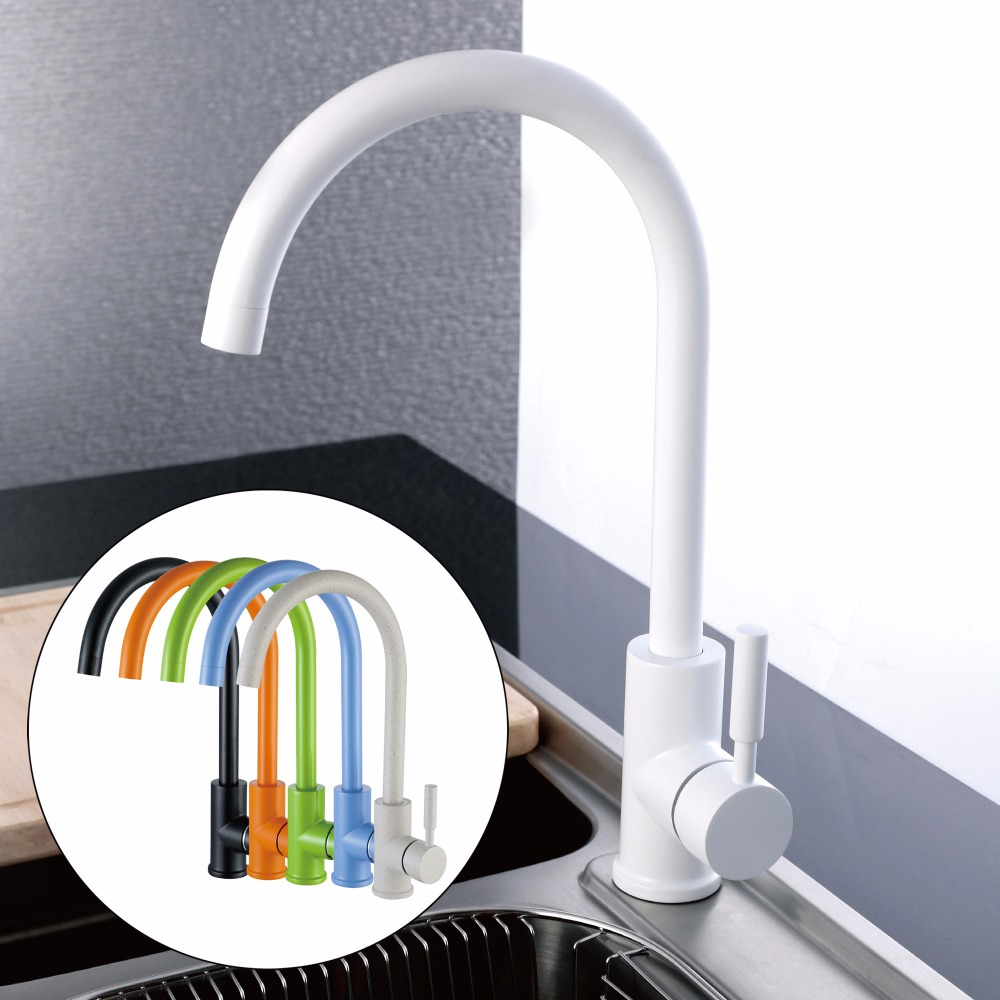 products red kitchen black or faucet flexible white pull faucets ruvati down swatch color