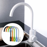 CLOUD POWER Classic Kitchen Sink Faucets With Black White Green Orange Color Brass Kitchen Sink Mixer